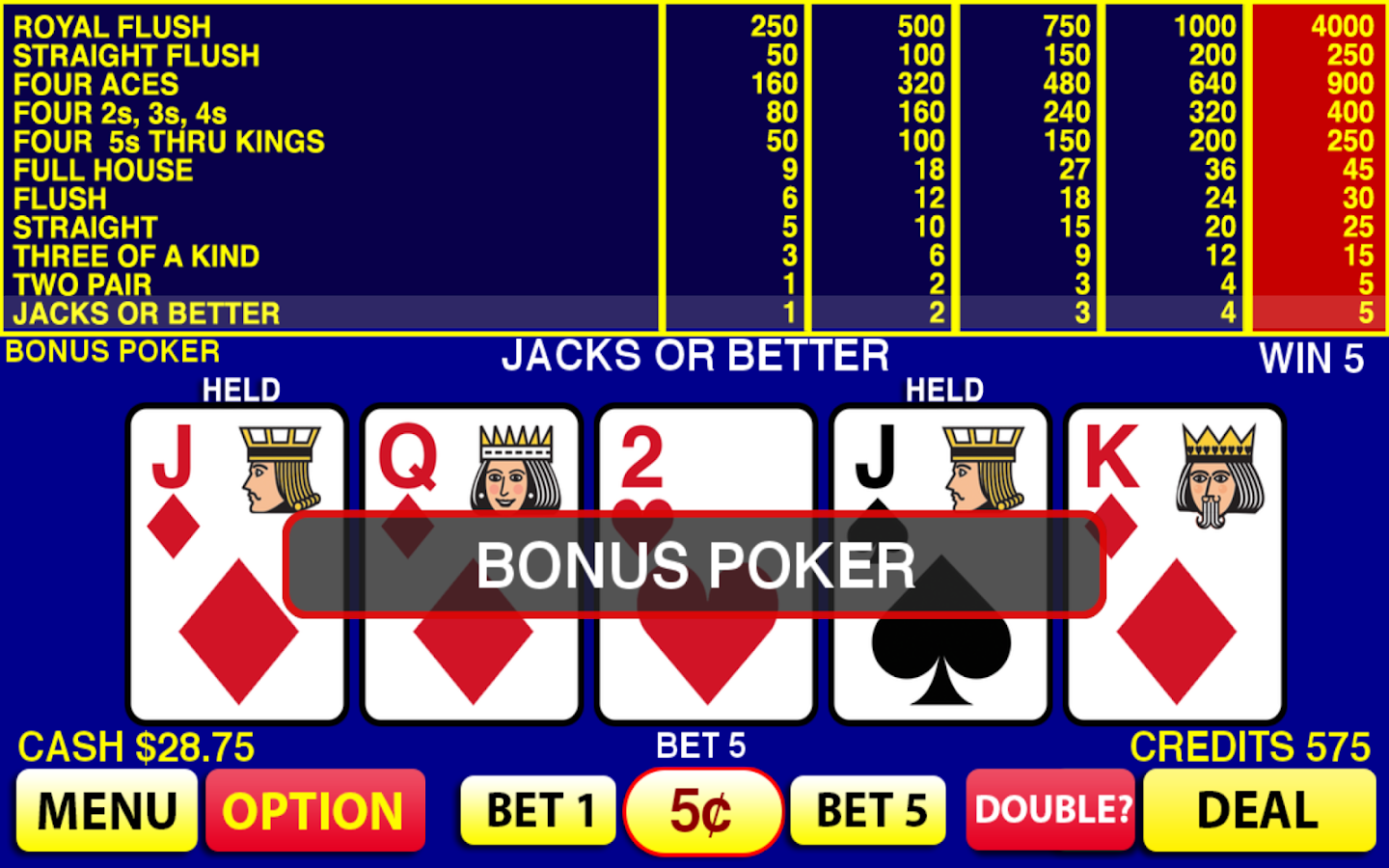 Bonus betmotion jogo video poker - 309793
